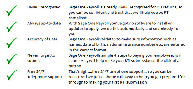 5 reasons why Sage One Payroll will ensure you're RTI compliant