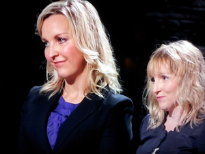 Gill Hayward and Kellie Forbes from YUUworld present their YUUbag on BBC Dragons' Den