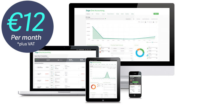 Sage One Accounting | Accounting online software from Just €12 Per Month +VAT