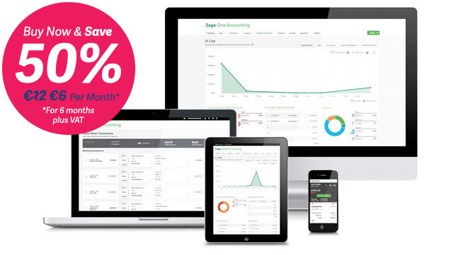 Sage One Accounting | Accounting online software now from just €6 Per Month +VAT