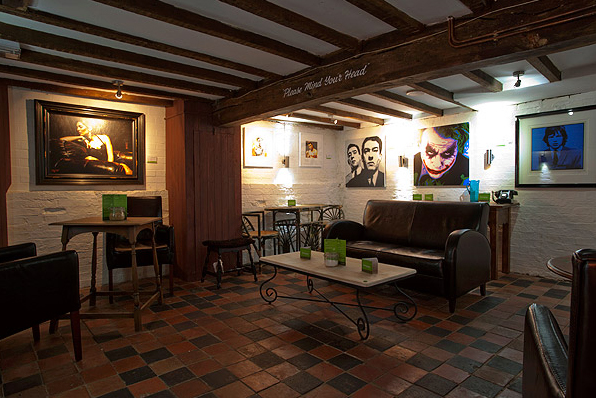 Inside the Evergreen Art Café
