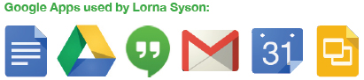 Google Apps used by Lorna Syson