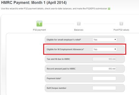 HMRC Payment Wizard - Step 1