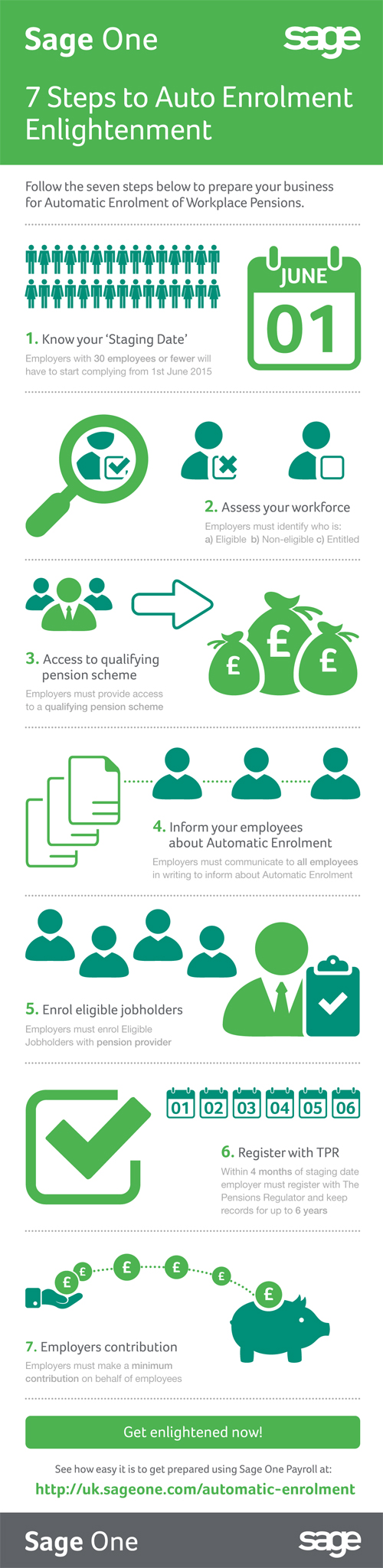 [Infographic] 7 Steps to Auto Enrolment Enlightenment