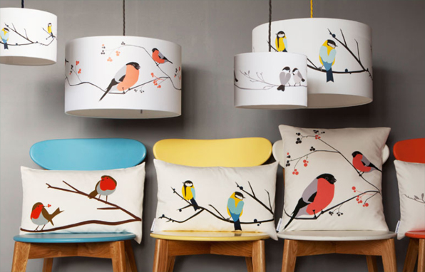 Lorna Syson cushions and lampshades