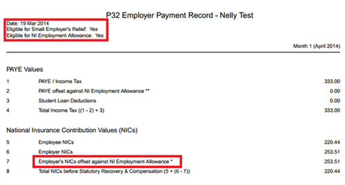 P32 Employer Payment Record