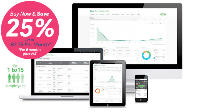 Sage One Payroll | Payroll online software now from just £3.75 Per Month +VAT