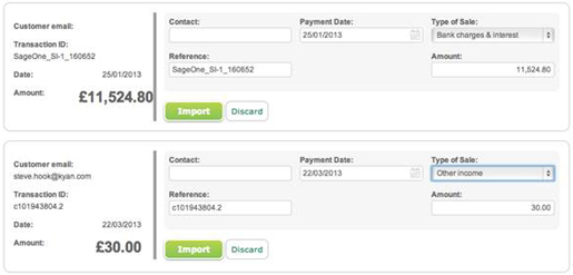 Sage Pay Transactions