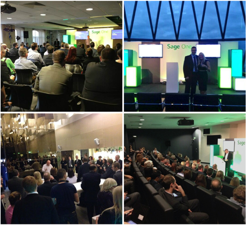 Collage of photos from the #SageOneWorld events