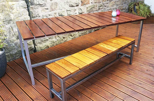 Outdoor Dining Table by Urban Metalworks