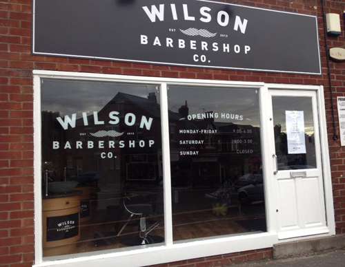 Wilson Barbershop Co. in South Gosforth, Newcastle upon Tyne