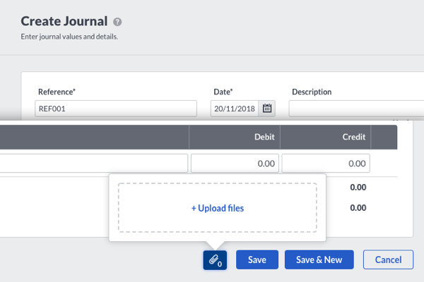 Create Journal - With Attachments