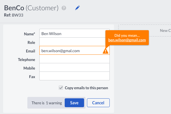 Customer Email Suggest