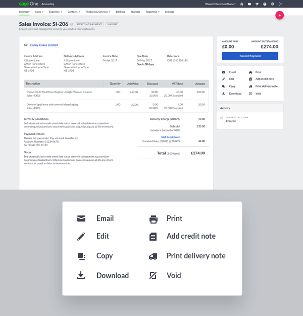 Accounting updates - Sage Business Cloud