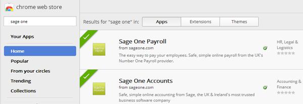 Sage One on the Google Chrome Web Store - Sage One UK Blog