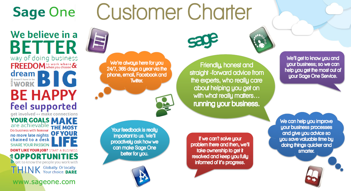 Sage one support our customer charter sage one blog for Customer care charter template