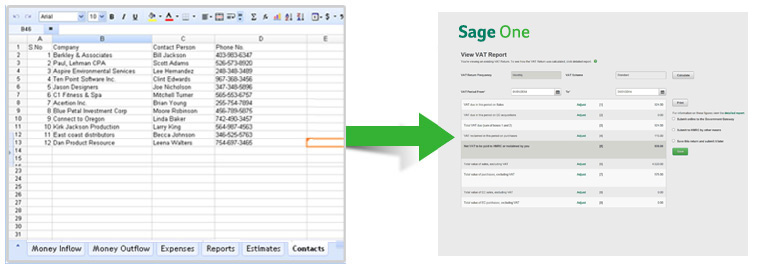 Sage One is purpose built for VAT returns
