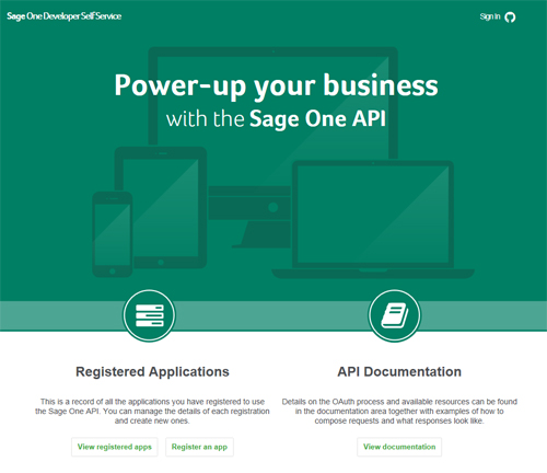 View the API documentation for Sage One Accounts - Sage One API